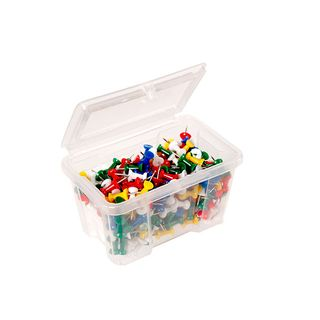 PUSH PINS CELCO ASSORTED COLOURS TUB/200