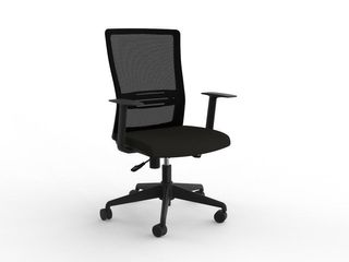KNIGHT CHAIR BLADE MESH BACK WITH ARMS