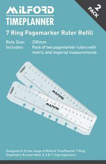 MILFORD ORGANISER REFILL 7 RING RULER
