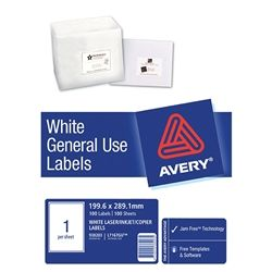 AVERY GENERAL USE LABELS L7167 1UP-100