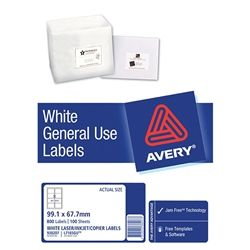 AVERY GENERAL USE LABELS L7165 8UP-100
