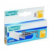 "RAPID 6MM 1/4"" BOX OF 2500"