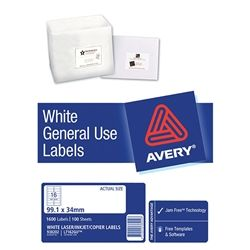 AVERY GENERAL USE LABELS L7162 16UP-100