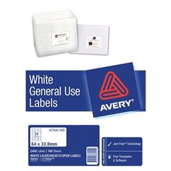 AVERY GENERAL USE LABELS L7159 24UP-100