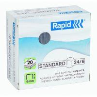 RAPID STAPLES  RS24/6 6MM BOX/5000