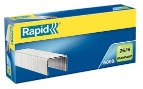 RAPID STANDARD STAPLES 26/6  BOX/5000