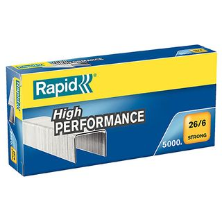 RAPID STRONG STAPLES 26/6 6MM BOX/5000