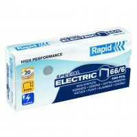RAPID STAPLES 66/6 6MM ELECTRIC BX/5000