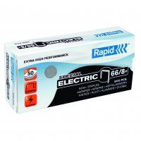 RAPID STAPLES 66/8 8MM ELECTRIC BX/5000