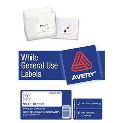 AVERY GENERAL USE LABELS L7163 14UP-100