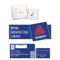 AVERY GENERAL USE LABELS L7156 45UP-100