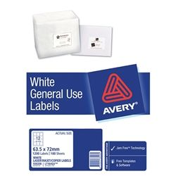 AVERY GENERAL USE LABELS L7164 12UP-100