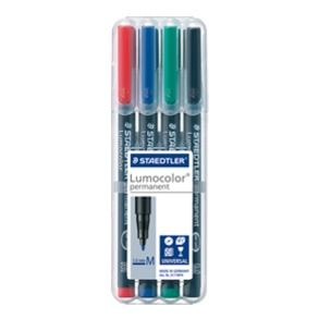 LUMOCOLOR 317 PEN PERMANENT MEDIUM SET/4