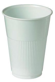 PLASTIC HOT CUPS WHITE 230ML PKT/50