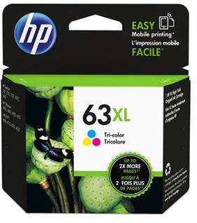 INKJET CARTRIDGE HP 63XL TRI COLOUR