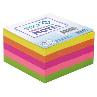 HOPAX STICK'N NOTE RAINBOW NEON 76X76MM