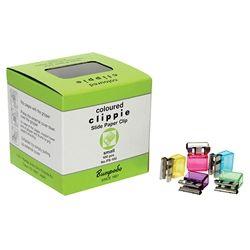 CLIPPIE PAPER CLIPS COLOURED SMALL 25SHT
