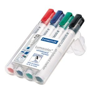 STAEDTLER WHITEBOARD MARKERS 351 PK4 CH