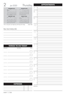 COLLINS DIARY MDA51A TIME MANAGER REFILL
