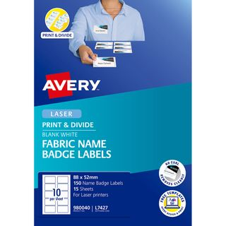 AVERY NAME BADGE L7427 FABRIC 10UP PK15