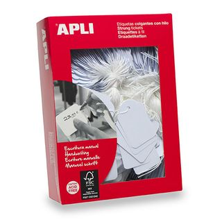 APLI STRUNG TAGS 386 13x34MM BUNDLE/100