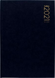COLLINS DIARY A41 BLACK ODD YEAR 2021