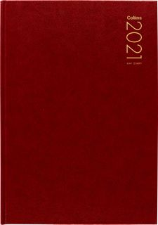 COLLINS DIARY A41 RED ODD YEAR 2021