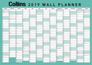 COLLINS WALL PLANNER A3 ODD YEAR
