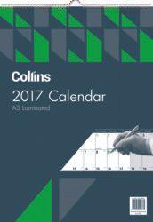 COLLINS A3 CALENDAR LAMINATED ODD YEAR