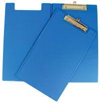 GBP CLIPBOARD VINYL DOUBLE F/CAP BLUE