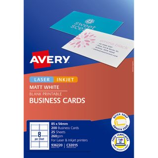 AVERY BUSINESS CARDS C32015 8UP PKT/25