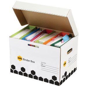 BINDER BOX MARBIG BLACK/WHITE