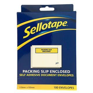 SELLOTAPE LABELOPES PACK/SLIP PKT/100