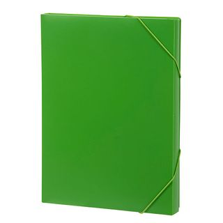 MARBIG DOCUMENT BOX A4 PP 30CM LIME