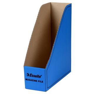 ESSELTE MAGAZINE FILE CARDBOARD BLUE