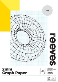 REEVES GRAPH PAPER PAD A3 2MM QUAD
