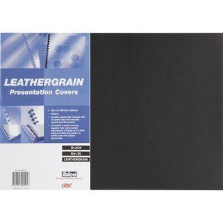 BINDING COVERS A3 LEATHERGRAIN BLACK