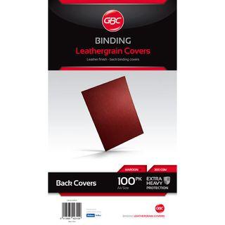 BINDING COVERS A4 LEATHERGRAIN MAROON