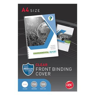 COVERS CLEAR IBICO A4 150MICRON PKT/100