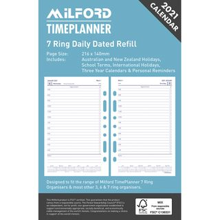 ORGANISER REFILL 7R DAILY DATED O/Y