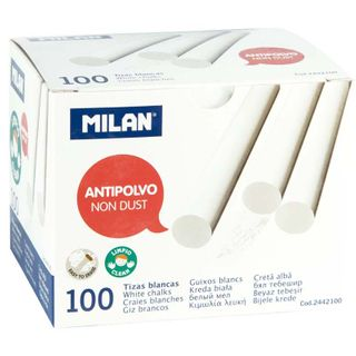 MILAN NON DUST CHALK WHITE BOX/100