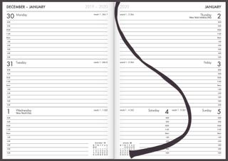 COLLINS DIARY A53A BLACK EVEN YEAR