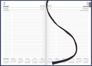 COLLINS DIARY A41 NAVY EVEN YEAR