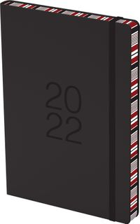 COLLINS DIARY COLOURED EDGE A51 BLACK EY
