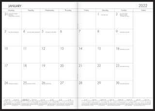 COLLINS A4 MONTHLY PLANNER BLACK PVC COV