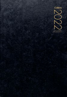 COLLINS DIARY A41A BLACK EVEN YEAR