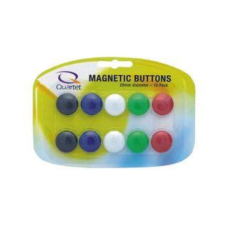 MAGNETIC BUTTONS ASST 20MM PKT/10 QUART