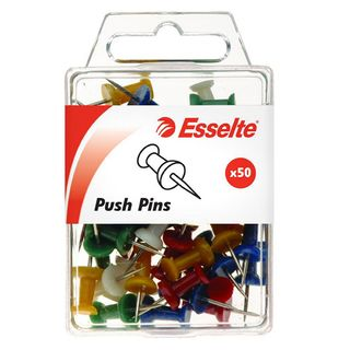 PINS PUSH PINS ASSORTED PKT/50 ESSELTE