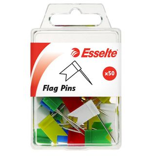 ESSELTE FLAG PINS ASSORTED PK50