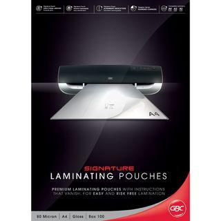 LAMINATING POUCHES GBC A4 80 MIC PKT/100